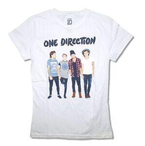Mediano Negro Señoras One Direction San Siro película T-Shirt-Mujeres Escote Redondo