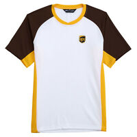 NEW UPS UNITED PARCEL SERVICE MENS COLLECTIBLE WHITE BROWN ATHLETIC TEE T-SHIRT