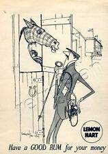 Classic 1954 LEMON HEART RUM (Ronald Searle)  Quarter Page Vintage Magazine Ad