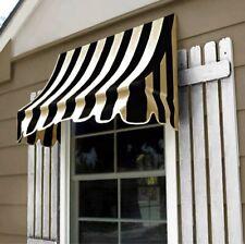 "Awntech 6' Nantucket Window or Doorway Awning, 44"" x 36"", Black/Tan"