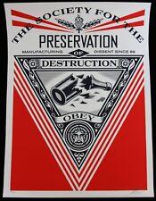 SHEPARD FAIREY  SOCIETY OF DESTRUCTION siebdruck SIGNIERT N/450  OBEY GIANT MINT