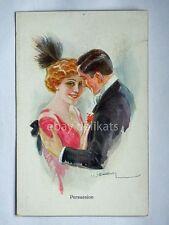 PERSUASION Usabal innamorati lovers old postcard AK vecchia cartolina