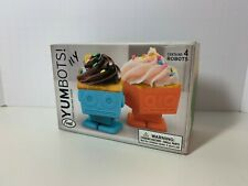 Fred silicone Yumbots robot shaped oven safe cupcake molds 4 pack new