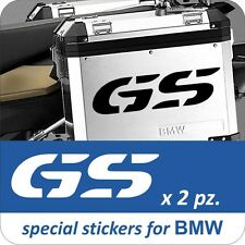 2 Adesivi Stickers GS Moto BMW R 1200 1150 1100 800 650 gs valigie adventure