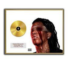 Young Thug Poster, Slime Season 3 GOLD/PLATINIUM CD, gerahmtes Poster HipHop Rap