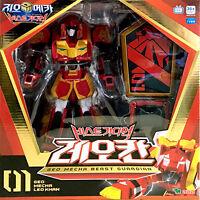 Geo Mecha Beast Guardian LEO KHAN Transformer Robot Lion Toy Action Figure Korea