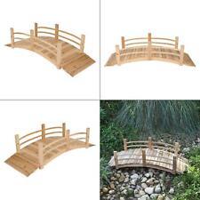 6 ft. natural cedar wood garden bridge