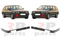 Pour BMW 3-SERIES E30 1987-1990 Neuf Pare Choc Avant Moulure Bord Paire Noir Set