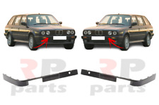 FOR BMW 3-SERIES E30 1987-1990 NEW FRONT BUMPER MOLDING TRIM BLACK PAIR SET L&R