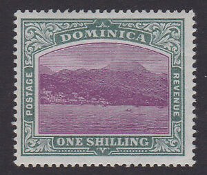 Dominica. SG 33, 1/- magenta & grey-green. Fine mounted mint.