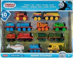 NEW Thomas & Friends Sodor Steamies Metal Train Engines Vehicles Set of 10 Toys