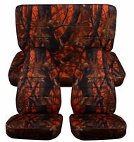 1976-2016 Jeep Wrangler Camouflage Seat Covers Canvas Front & Rear Choose color