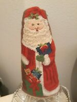 Vtg Christmas Completed Neddlepoint Santa Claus PRIM Pillow Figurial Belsnickle