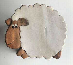 Childrens/Childs/Kids Wooden Stool - Sheep