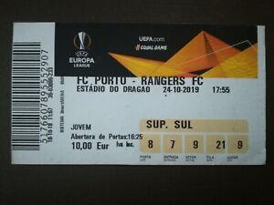TICKET 18/19 EUROPA LEAGUE FC PORTO x GLASGOW RANGERS FC