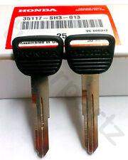 2 NEW Genuine OEM Honda Master Key Blank CR-V Odyssey CRX del Sol Prelude Civic