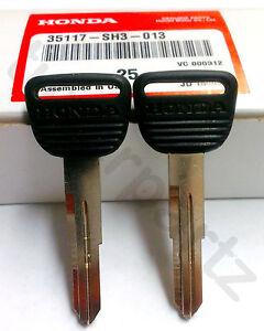 2 NEW Genuine OEM Honda Master Key Blank Spare Key 2pc SET SH3