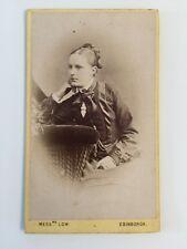 Victorian Carte De Visite CDV Photo - Low - Edinburgh - Lady