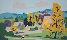 JEAN HUGO-French Modernist-Hand Signed LIM.ED Serigraph-Rural French Village