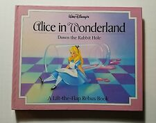 Alice in Wonderland down the Rabbit Hole Lift-the-Flap pop-up book 1994 Disney