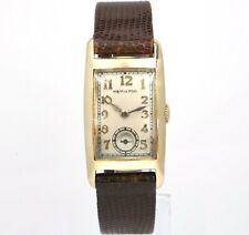 30's Hamilton Allison 14k Gold Curved Rare Vintage Mens Manual Watch