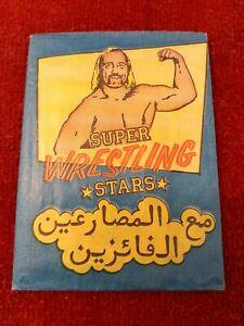1986 Monty SUPER WRESTLING STARS wax pack. Original with 3, 2 card strips.