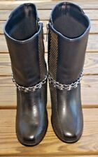 Harley Davidson Motorcycles Size 8.5 Claudia Chain Motorcycle Leather Boots NEW!