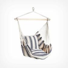 Blue & White Striped Hanging Swinging Garden Chair