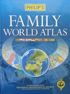 Philip's Family World Atlas by Philip's (Hardback, 2003)