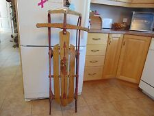 vintage,/antique wooden snow toboggan  flyer sled    45 inches   /# 1484