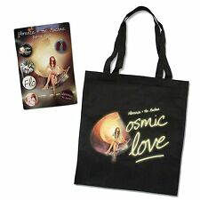 FLORENCE + THE MACHINE 2 PC GIFT SET COSMIC LOVE BLACK TOTE BAG AND 6 BUTTON SET