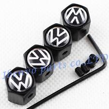 Anti-theft Black Metal Car Wheel Tyre Tire Stem Air Valve Cap For VolksWagen VW