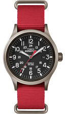 Timex TW4B04500 Men's Expedition Scout Military Indiglo Slip-Thru Band Watch