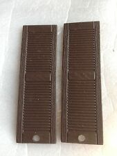 """1:12 scale  8 Pair  16 pieces  Louvered plastic dollhouse shutters  Brown 4-3/4"""""""