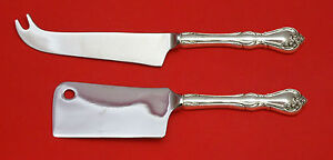 ROSE CASCADE BY REED & BARTON STERLING SILVER CHEESE SERVING SET 2PC HHWS CUSTOM