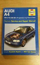 AUDI A4 PETROL DIESEL 1995-2000 HAYNES WORKSHOP MANUAL 3575 GOOD COND FREE P&P