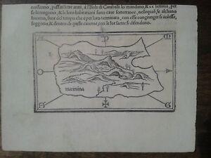 """Martinica """" Matinima """" Bordone 1534"""