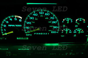 LED KIT for Suburban Silverado Tahoe Yukon SIERRA GMC 95-99 CHEVY CLUSTER Green