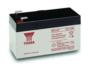 NP1.2-12 YUASA 12v 1.2Ah sealed lead acid battery for alarms, toy cars