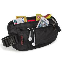 Waist Bag Travel Holiday Money Belt Pouch Black Money Belt For Travel