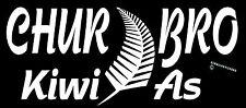 KIWI AS STICKER CHUR BRO STICKER AOTEAROA NEW ZEALAND FERN STICKER