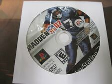 Madden Nfl 07 (Sony PlayStation 2, 2006) game only