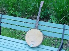 VINTAGE  TENOR  BANJO SMALL ORIGINAL LEATHER HEAD 1920