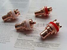4x CMC 805CU  RCA Socket Phono Chassis Female HIFI AMP HI END Pure Red Copper