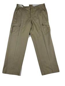 Khaki Cargo Work Pants - Beige / Tan / Brown - Red Kap, Cintas, etc Used Uniform