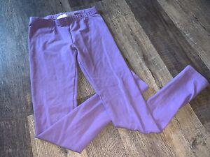Hanna Andersson Girls Purple Leggings Pants Sz 150 US 12