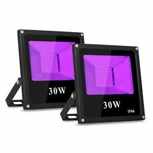 2Pack 30W UV Led Flutlicht Strahler für Party DJ Malerei Disco Bühne Leuchtung