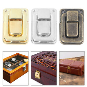 Small Wine Wooden Chest Case Gift Box Toggle Latch Suitcase Lock Hasp HardwaBZY