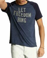 "John Varvatos Star USA Men's Sz Large ""Let Freedom Ring""  Peace Sign T-Shirt"