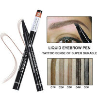 Black Microblading Eyebrow Tattoo Pen Waterproof Fork Tip Sketch Makeup Ink